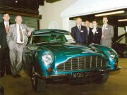 Grundy Mack staff with late fuel injected Aston Martin DB6