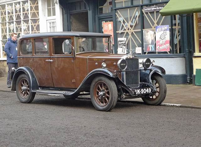 1930 Hillman 14 Saloon on set of Dad's Army Film